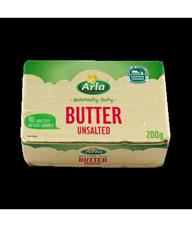 Arla Butter Unsalted 200g