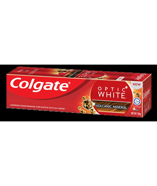 Colgate Optic White Volcanic Mineral 100g,