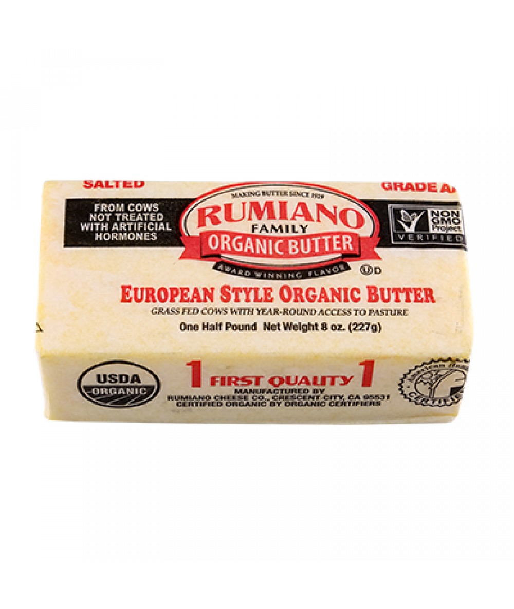 Rumiano Family  Organic Salted Butter 8oz