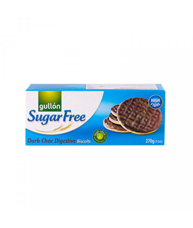 Gullon Sugar Free Dark Choc Digestive Biscuits 270