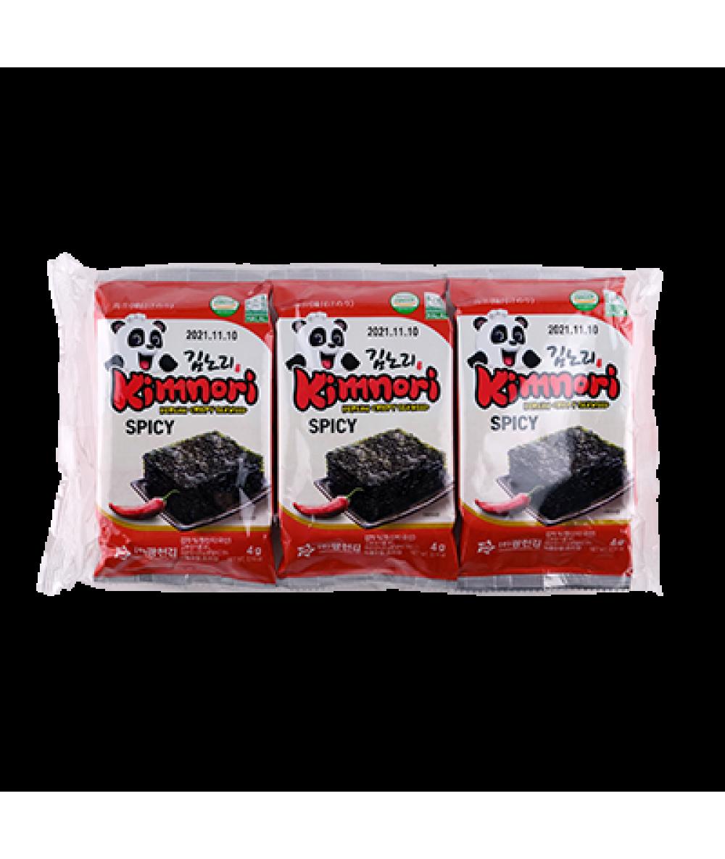 KCK Kimnori Spicy Flavor  (Seasoned Seaweed) 3x4g