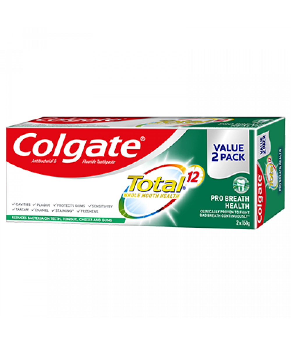 Colgate Total Pro Breath Health 150g, 2 ct