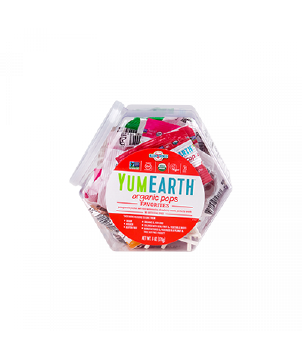 Yum Earth Assorted Lollipops 170g