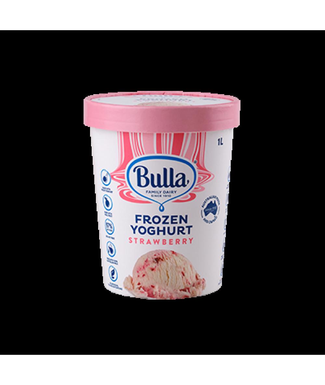 Bulla 97% Fat Free Frozen Yogurt Strawberry 1L