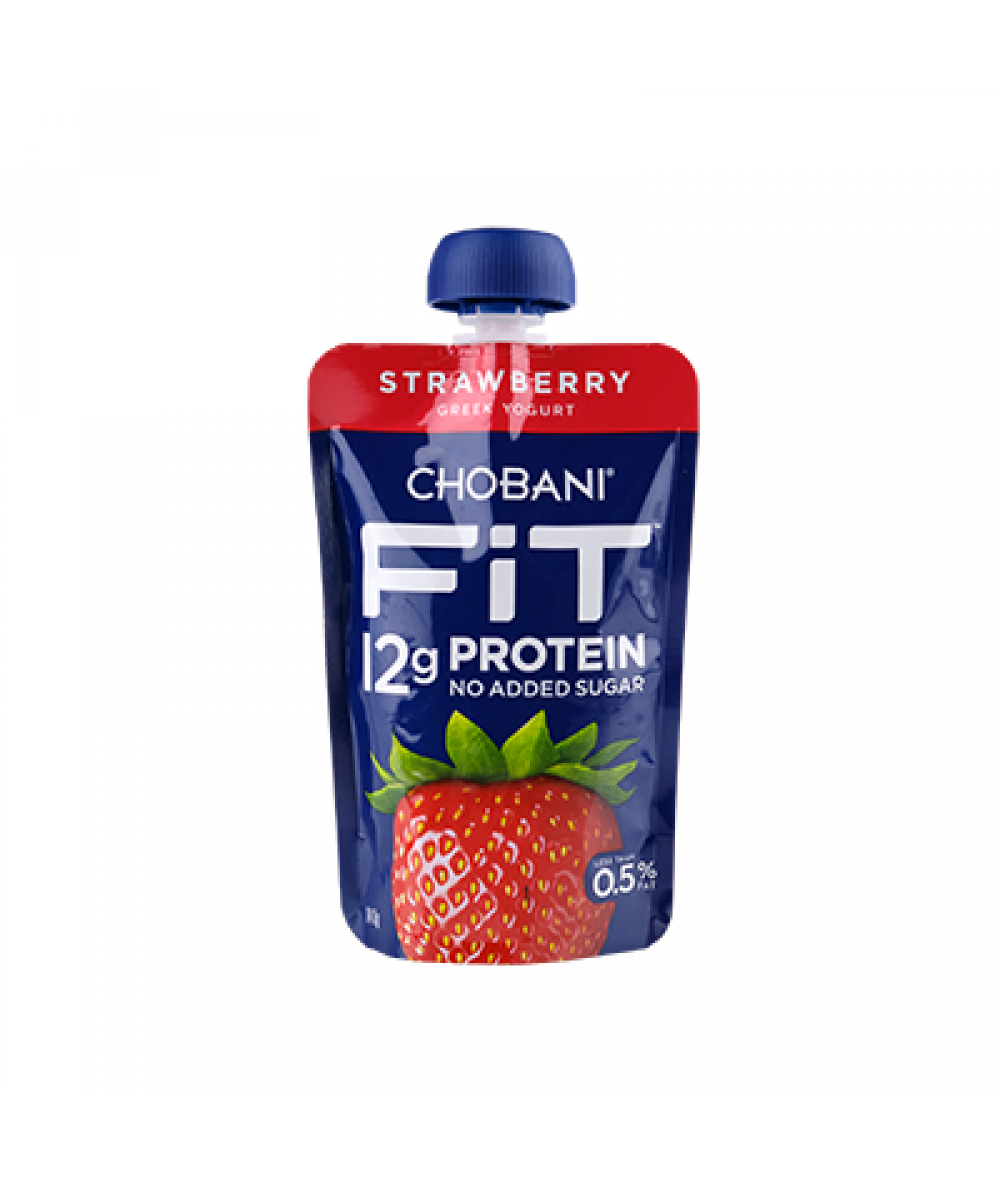 Chobani Fit Strawberry Pouch 140g