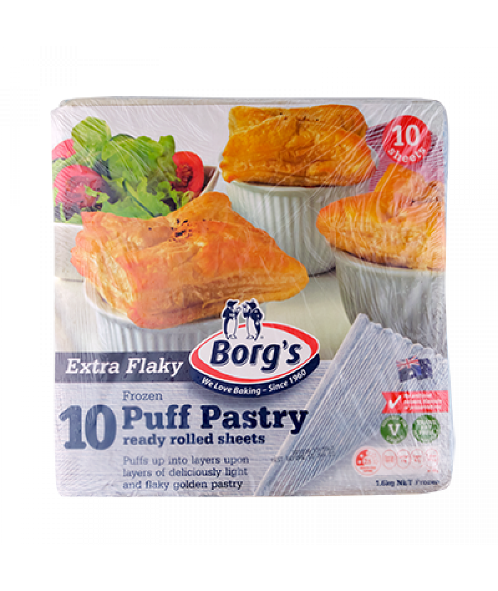 Borg's Extra Flaky Puff Pastry Sheets 1.6kg
