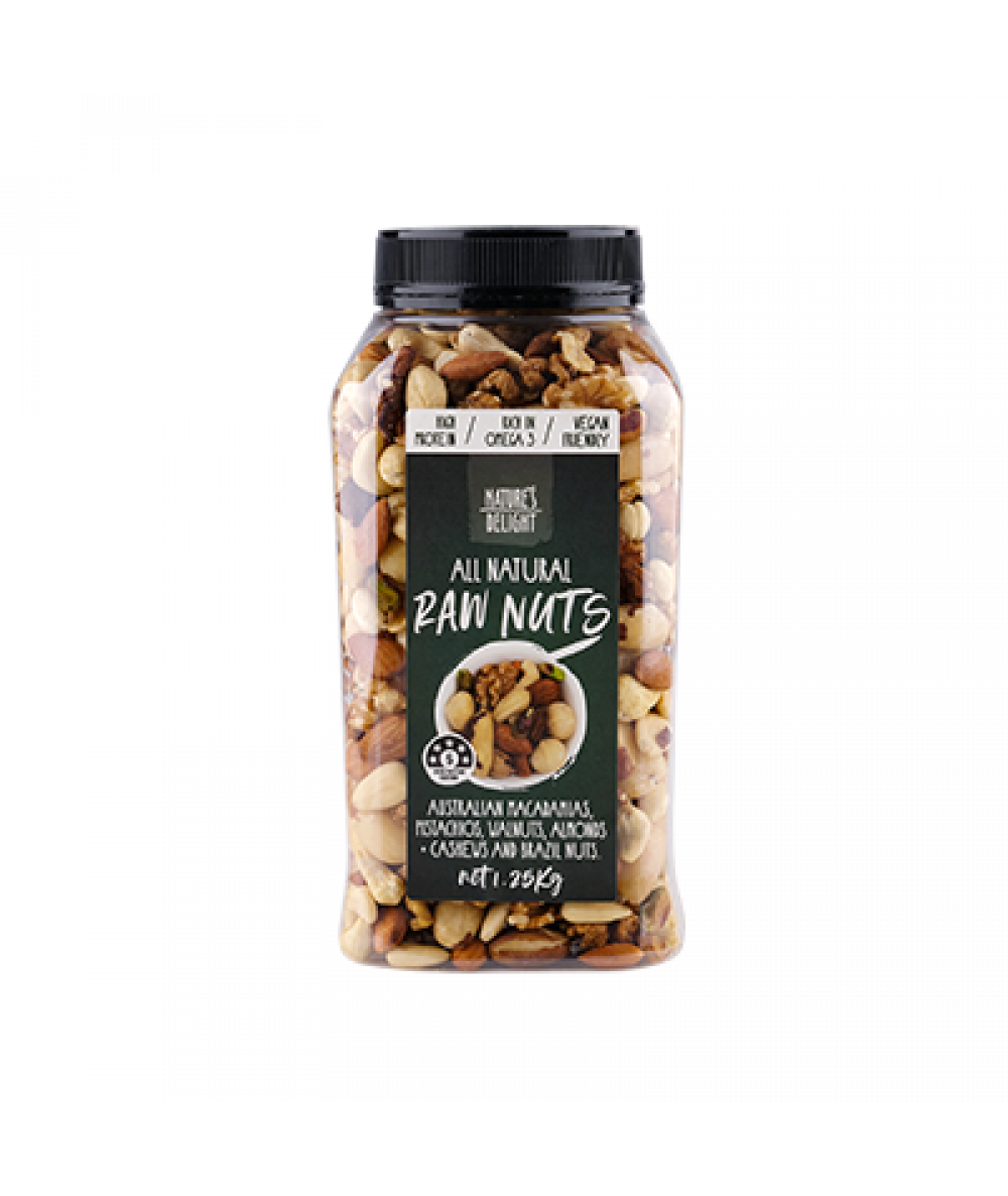 Nature's Delight Raw Mix Nuts 1.25kg