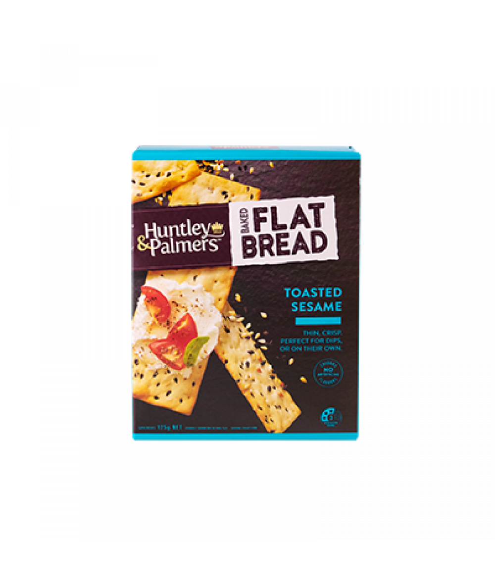 Huntley & Palmers Flat Bread Toasted Sesame 125g