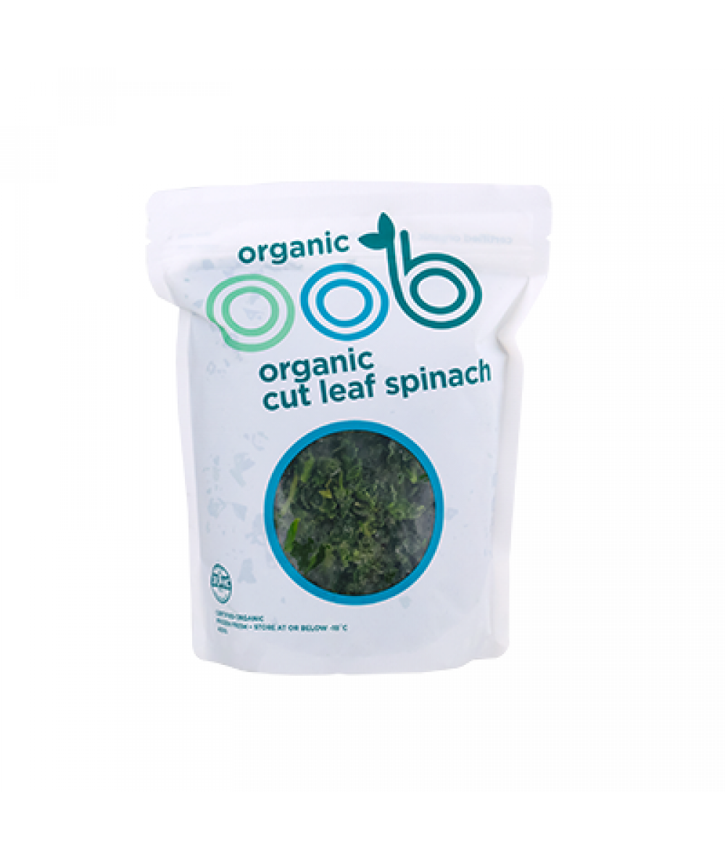 Oob Organic Cut Leaf Spinach 400g