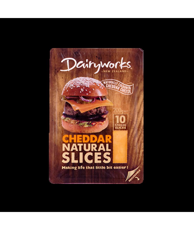Dairyworks Orange Cheddar Slices  200g