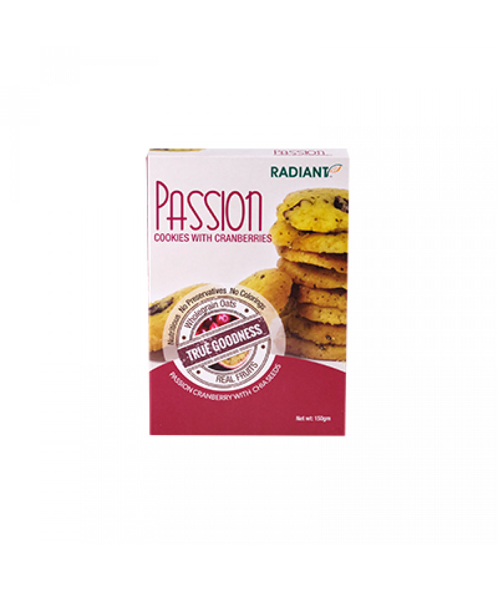 Radiant Passion Cookies With Cranberries And Oats