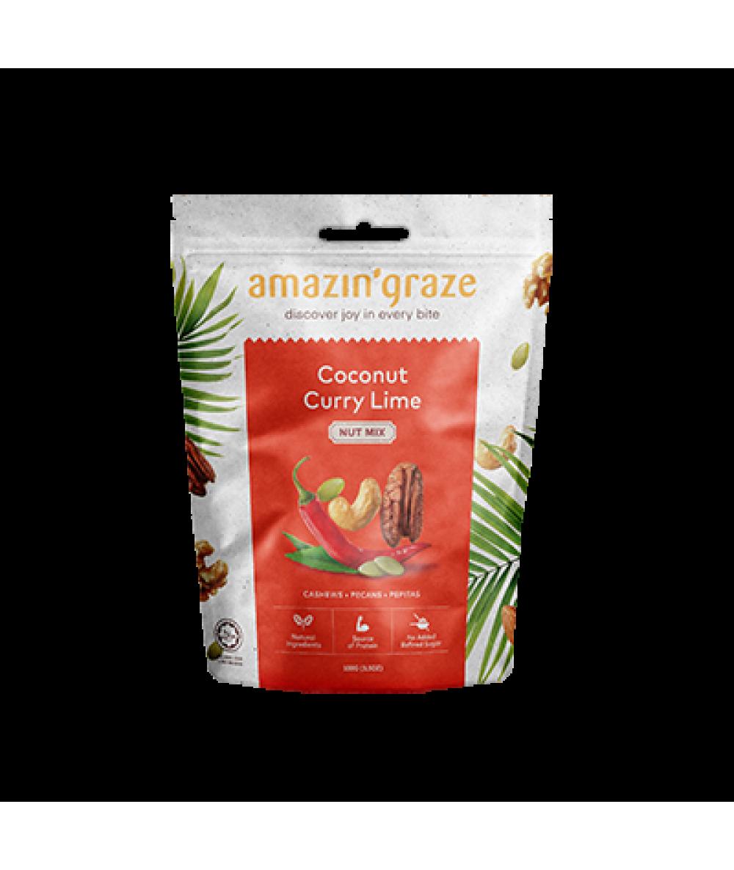 Amazin'Graze Coconut Curry Lime Nut Mix 100g
