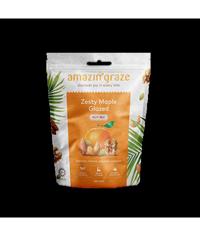 Amazin'Graze Zesty Maple Glazed Nut Mix 100g
