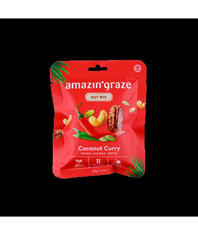 Amazin'Graze Nut Mix Snack Packs - Curry 30g