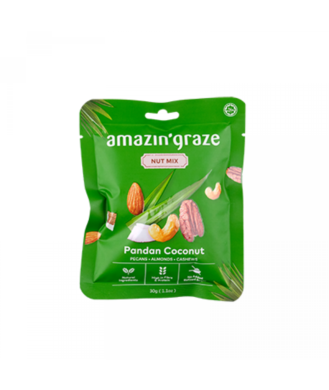 Amazin'Graze Nut Mix Snack Packs - Pandan 30g