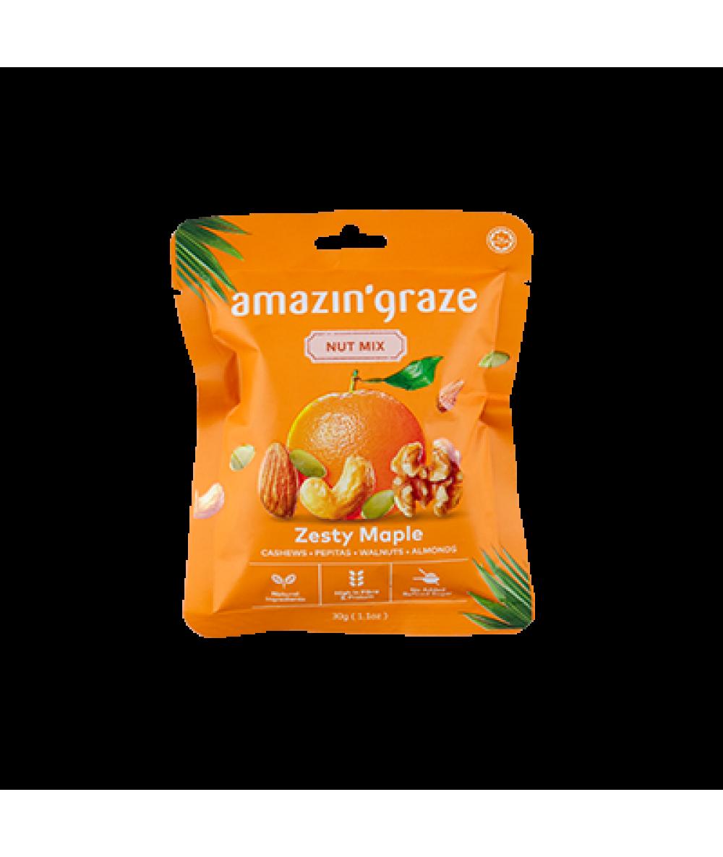 Amazin'Graze Nut Mix Snack Packs - Zesty 30g