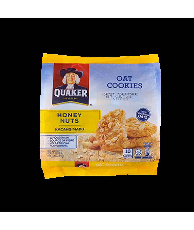 Quaker Oat Cookies Honey&Nuts 270g